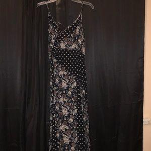 Multi print maxi dress